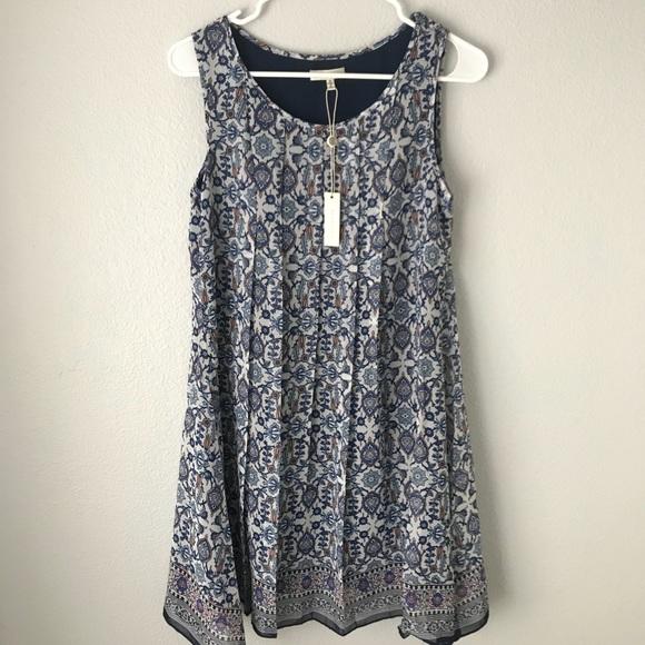 0c81b730b72030 Max Studio NWT Blue Floral Dress Sleeveless Size S